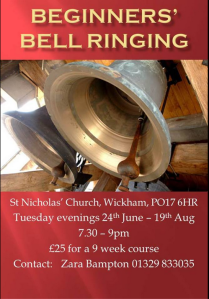 beginners bell ringing cxourse wickham