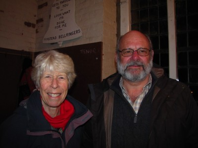 The band is led by Polly (Ringing Master) and Peter (Tower Captain)