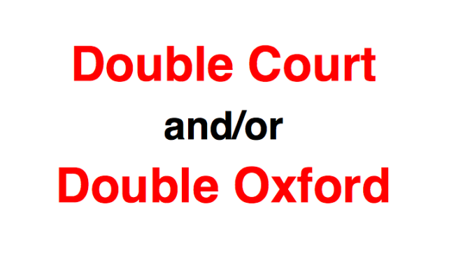Double Court and/or Double Oxford – Friday October 23rd 7pm – 9pm at Bishopstoke.