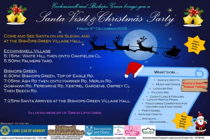 Santa's Visit and Christmas Party – in loving memory of Simon Lipscombe
