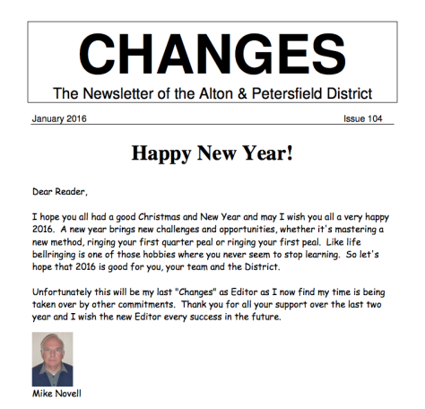 Changes Newsletter Jan 2016