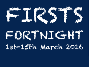 A 'Firsts Fortnight' message from Guild Master Viv Nobbs.