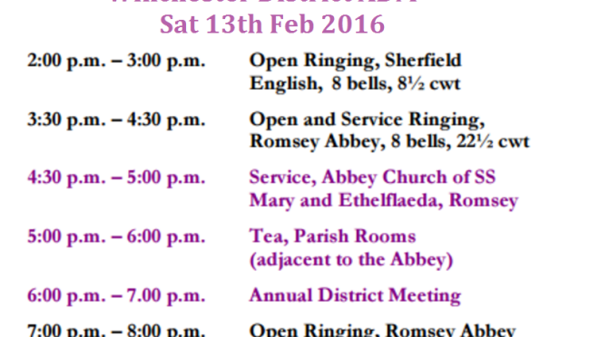 Winchester District ADM Invitation (Saturday 13th Feb)