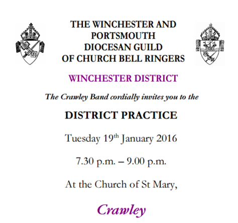 winchester district practice at Crawley Jan 2016