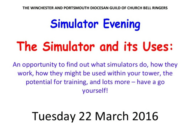 CONFIRMED AS TAKING PLACE Guild Education Evening – Simulators – Tues 22nd March