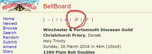 bellboard highlighting the pdf icon