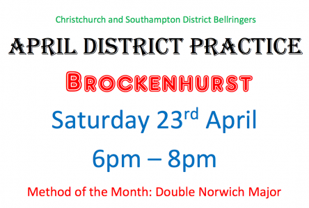 C&S District Practice Brockenhurst  Saturday 23rd April