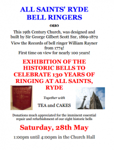 EXHIBITION AT RYDE (IoW) – Celebrating 130 Years of Ringing