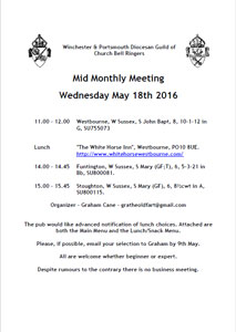 May's Mid-Monthly Tour Wednesday 18th of May