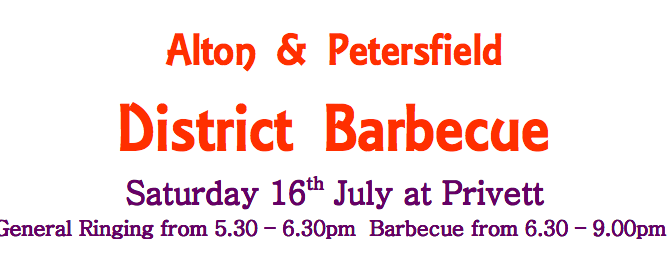Alton and Peterfield District Barbecue – July 16th at Privett