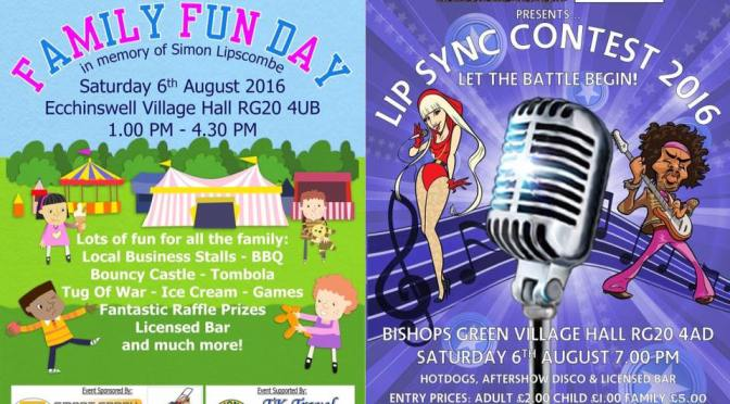 Family Fun Day at Ecchinswell – August 6th