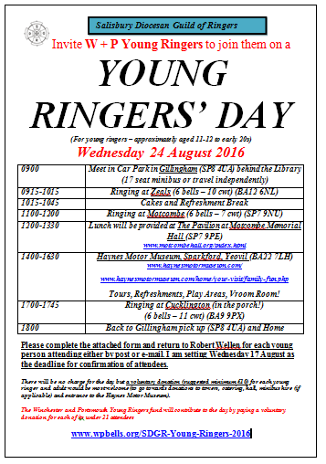 image of poster for SDGR Young Ringers Day