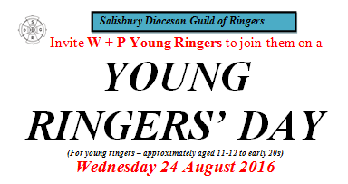 W&P members are invited to the SDGR YOUNG RINGERS' DAY- Wed Aug 24th