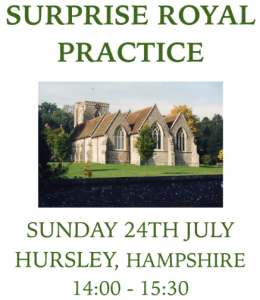 Surprise Royal Practice Confirmed – Sunday 24th July, 14:00 – 15:30 at Hursley