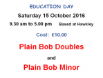 poster for plain bob course october 2016