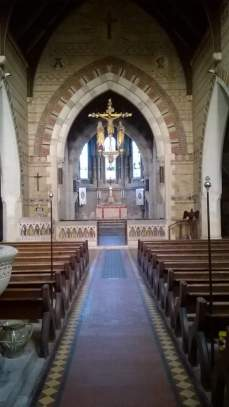The Interior of the church at Swanmore, Ryde. Photo by Kieran Downer