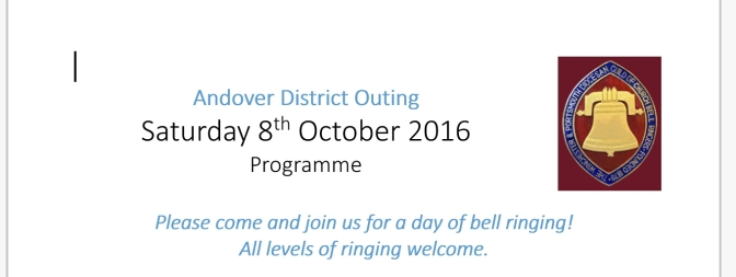 Andover District OutingSaturday 8th October