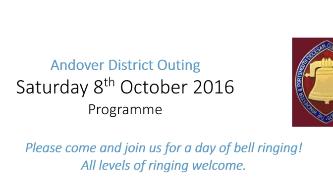 Andover District Outing Saturday 8th October