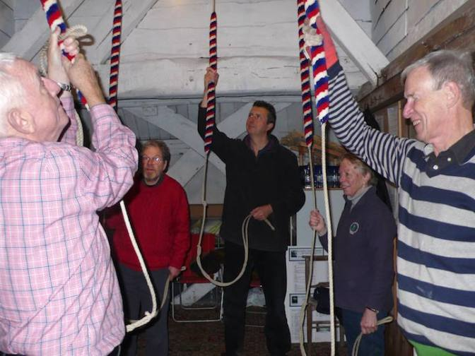 Ringing at Dummer to commemorate Royston Bishop (died 16/11/16)