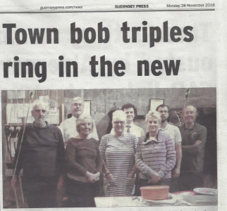 Guernsey Ringers Report a Quarter Peal in their Local Newspaper