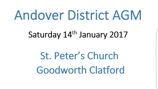 Final Notes and Documents for the Andover AGM (Sat 14th Jan)