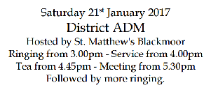 AP District ADM Saturday 21st January  ****RSVP BY 17th JAN****