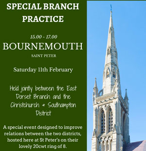 Invitation to East Dorset's Branch Practice, Sat 11th February