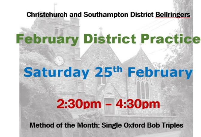 February District Practice at Eling Sat 25th.