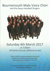 Sway Handbell Ringers & Bournemouth Choir at Milford-on-Sea Sat 4th March