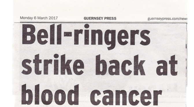 Local paper reports on Town Church Guernsey ringing of Julie McDonnell methods