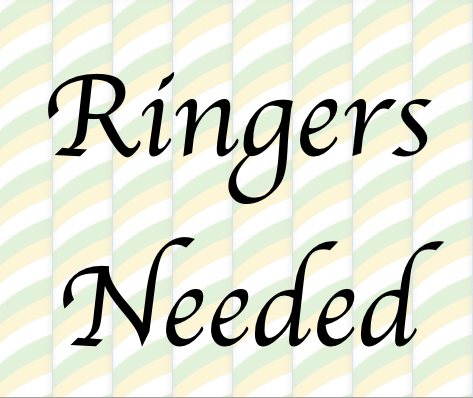 2 wedding ringers needed at Fareham Sat 30th June 1.30pm