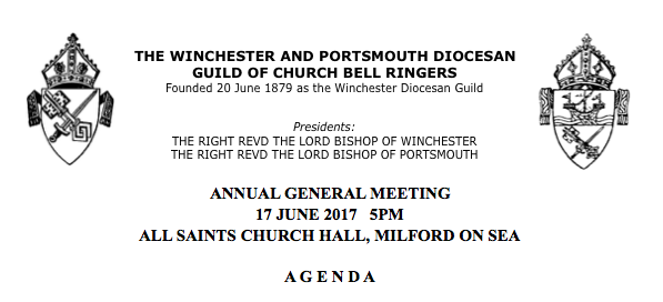 Agenda for the AGM June 17th