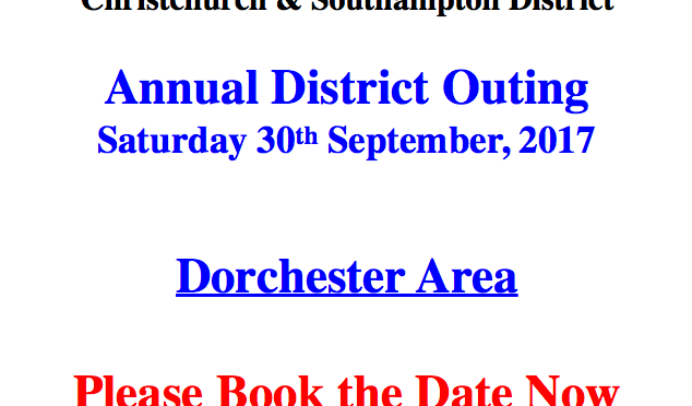 CS District Outing Sat 30th September – Dorchester Area
