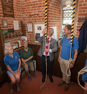 Mayor & Mayoress of Test Valley visit Lockerley Tower