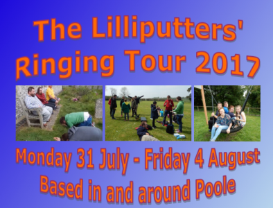 Open Invitation to join The Lilliputters Young Ringers' Tour! July 31st-Aug 4th