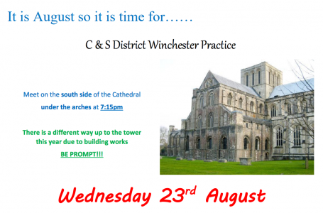 CS District Practice at Winchester 23rd August Update