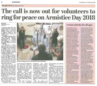 Want to see how you can successfully get your Ringing Remembers or other campaign into your local press?