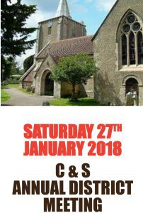 CS District ADM Saturday 29th Jan at Milford