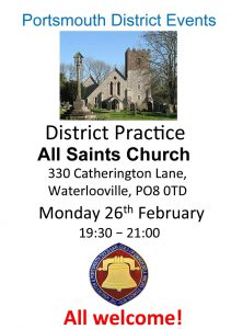 Portsmouth District Practice 26th Feb