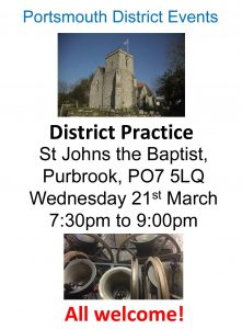Portsmouth District Practice Purbrook 21st March