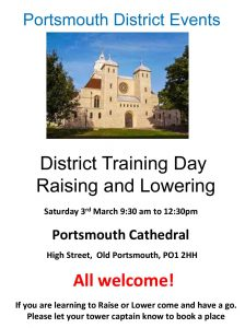 Portsmouth District Training – Raising and Lowering – 3rd March