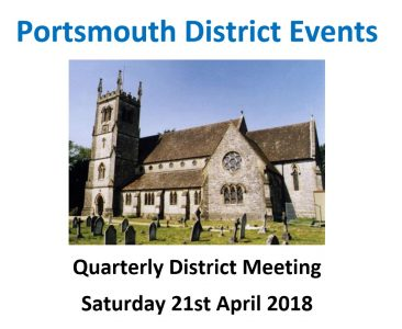 Portsmouth District QDM  – 21st April at Shedfield