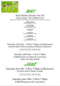 Alton and Petersfield May/June – THE POSTER