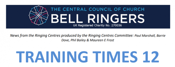 "Latest ""Training Times"" newsletter from CCCBR Ringing Centres Committee"