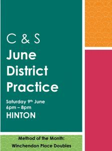 CS District Practice at Hinton Sat 9th June