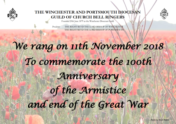Did your tower ring for Armistice 100?