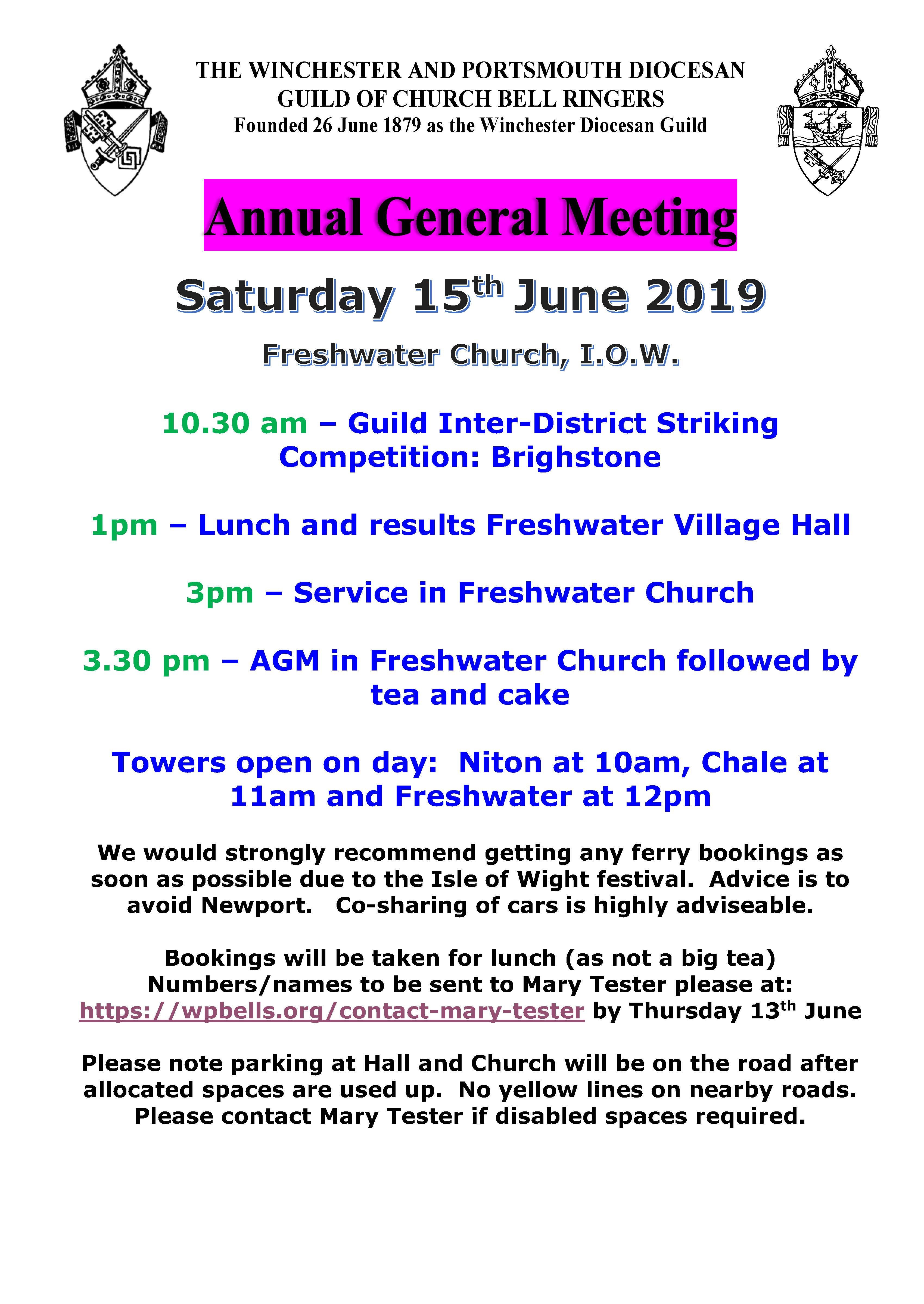 Guild AGM Poster - Freshwater IOW 15.6.19