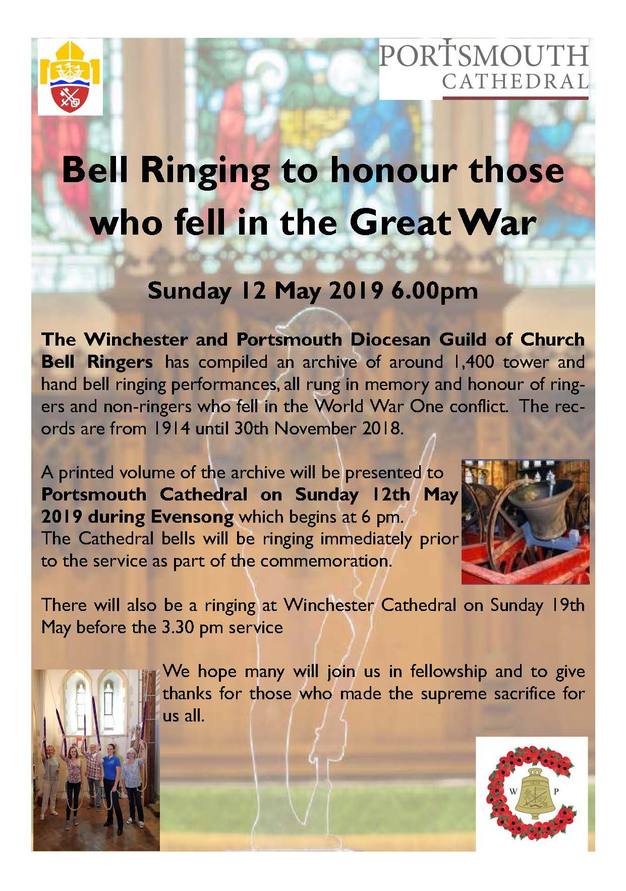 Guild WW1 WP service flyer - Portsmouth Cathedral