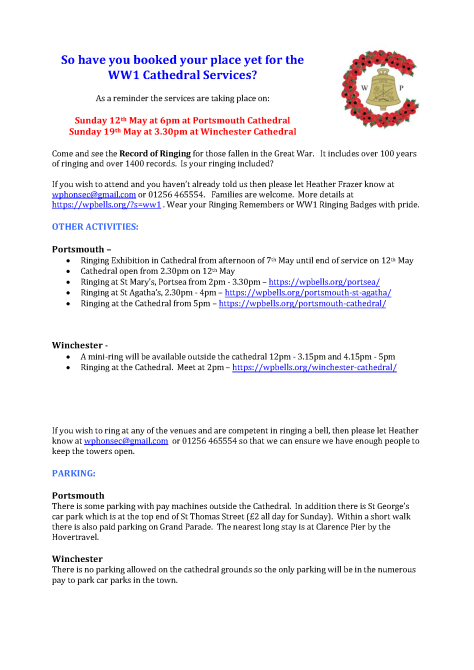 Parking comms WW1 - May 2019 v2