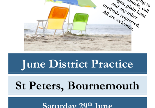 C&S Monthly District Practice: Saturday 29th June 2019